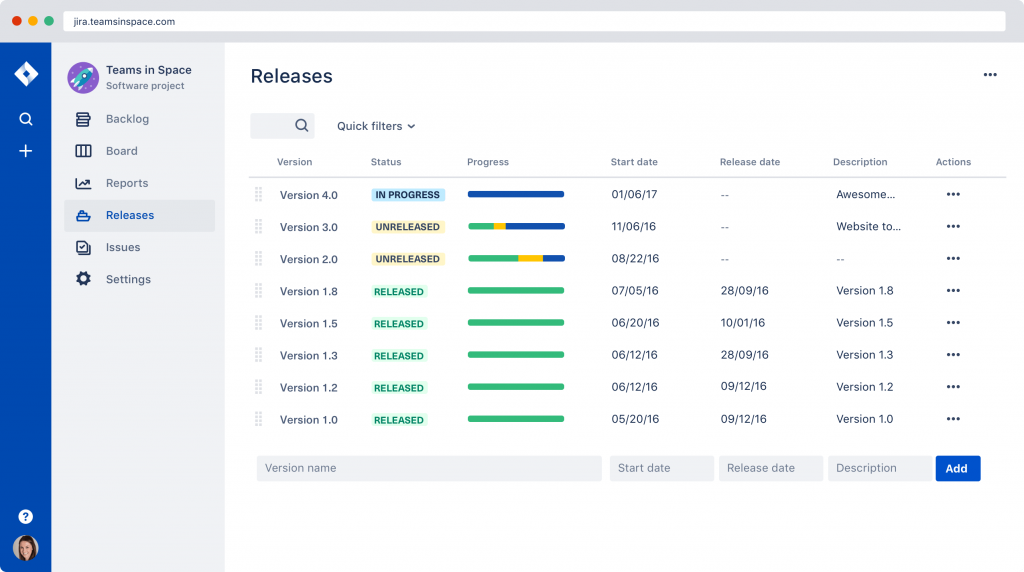 Atlassian Jira Software: Release Hub
