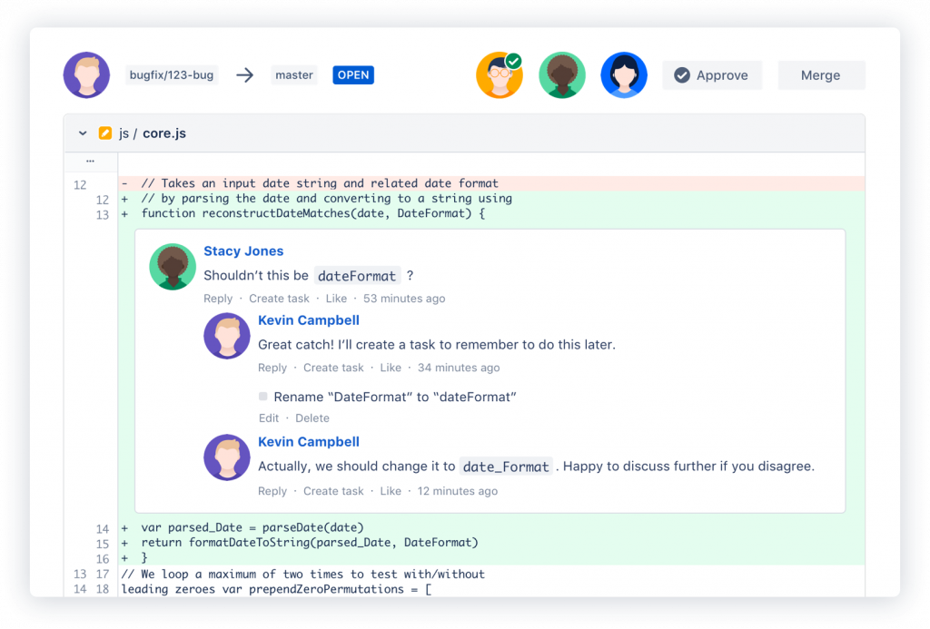 Inline-Kommentare in Atlassian Bitbucket